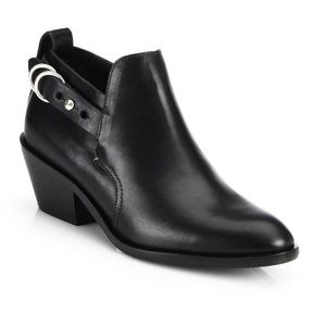 Sullivan Belted Buckle Leather Ankle Booties